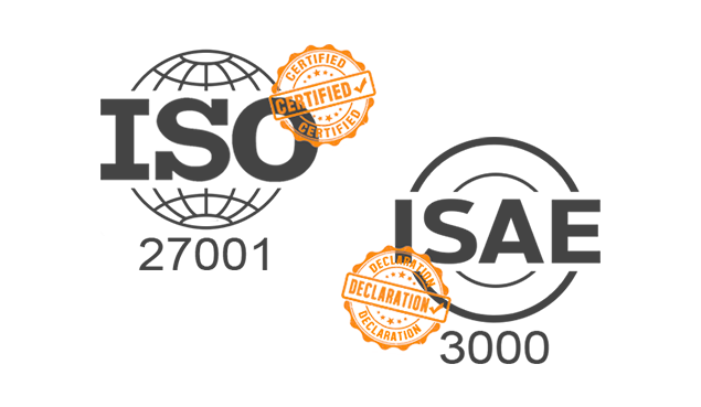 ISO 27001 and ISAE 3000 Certified