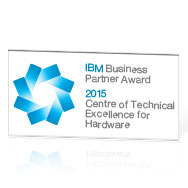 Vinder af IBM Centre of Technical Excellence Award for Hardware 2015